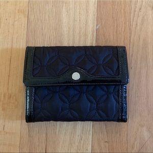 Vera Bradley Black Quilted Wallet